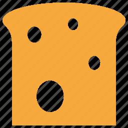 bread, bread slice, food, toast icon