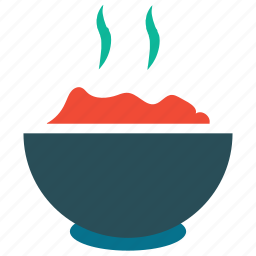 food, food in bowl, hot food, rice icon