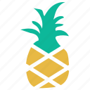 food, fruit, pineapple, tropical icon