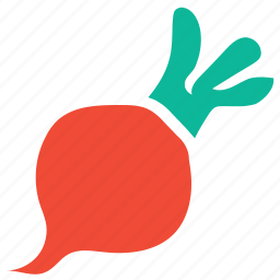 food, red, turnip, vegetable icon