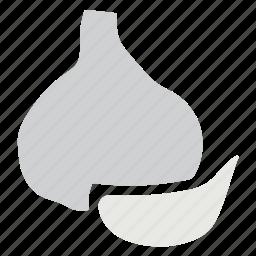 cooking ingredient, food, garlic, vegetable icon