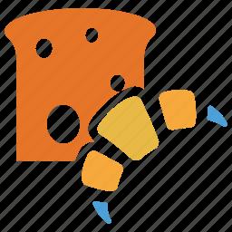 bread slice, breakfast, croissant, food icon