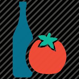 food, ketchup, sauce, tomato sauce icon