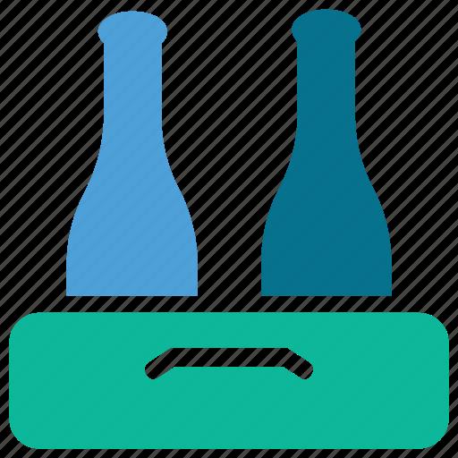 bottles, bottles crate, couple of bottles, wine bottles icon
