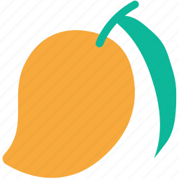 fresh fruit, fruit, mango, tropical icon