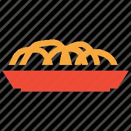 bagels, food, pretzel, traditional food icon