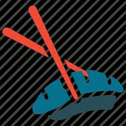 chopsticks, food, sushi, sushi with chopsticks icon