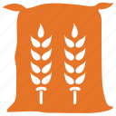 food, wheat, wheat bag, wheat sack icon