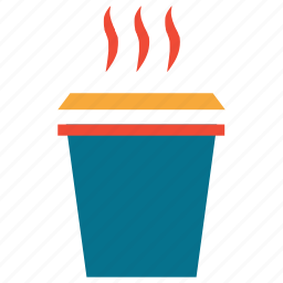 coffee cup, hot coffee, hot tea, paper cup icon