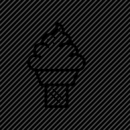cone, cream, icecream, sweet icon