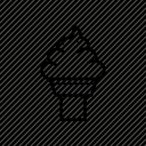 chocolate, food, ice cream cone, icecream icon