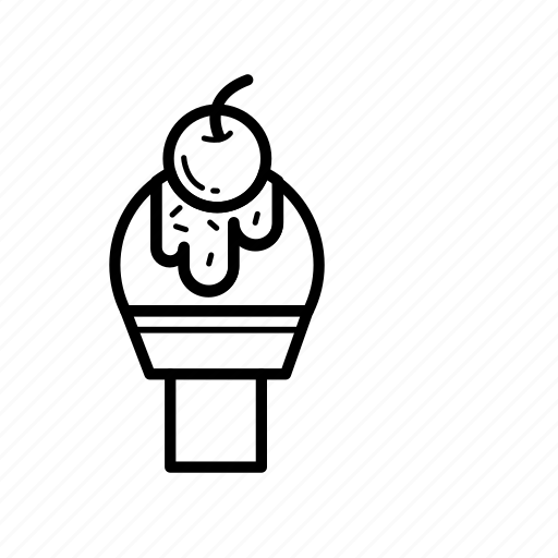 cone, cream, ice cream cone, icecream, sweet icon