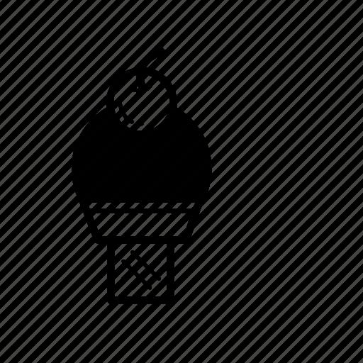 chocolate, dessert, ice cream cone icon