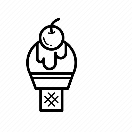 cream, dessert, ice cream cone icon