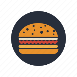 burger, eating, fast, food, meal icon
