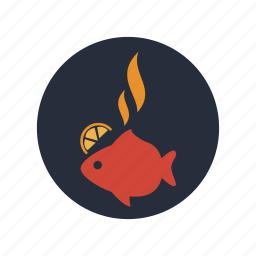cooking, fish, food, healthy, kitchen, restaurant, seafood icon