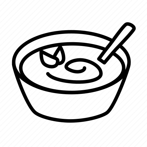 bowl, food, soup, spoon icon