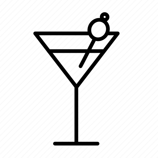 alcohol, coctail, drink, glass, martini, olive icon