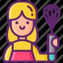 cook, home, female icon