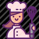 female, chef, professional