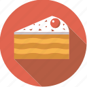 cake, cherry, food, foodix, icing, pastry, sweet icon