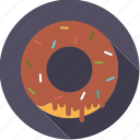 chocolate, crumble, donut, food, foodix, pastry, sweet icon