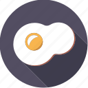 egg, food, foodix, fried, yolk icon