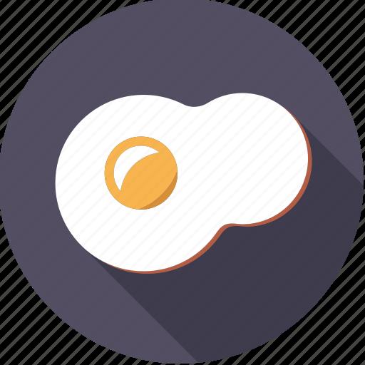 egg, food, foodix, fried, yolk icon
