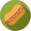 bun, fast food, food, foodix, hotdog, junk food, sausage icon