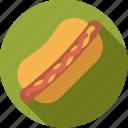 bun, fast food, food, foodix, hotdog, junk food, sausage icon