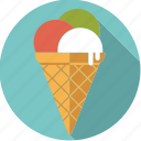cone, food, foodix, ice, icecream, sweet, waffle icon
