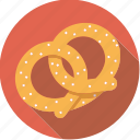 bavarian, food, foodix, pastry, pretzel, salt, snack icon