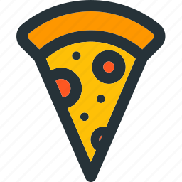 cooking, food, italian, kitchen, meal, pizza, slice icon