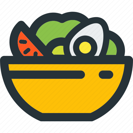 egg, food, healthy, leaf, salad, vegetable, veggie icon