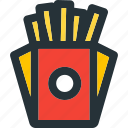 cooking, fast, food, french, fries, meal, restaurant icon