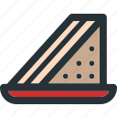 bread, food, healthy, meal, slice, toast icon