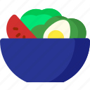 cooking, food, healthy, meal, salad, vegetable icon