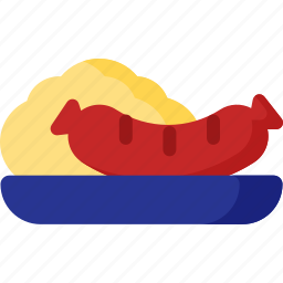 cooking, dog, food, hot, meal, restaurant, vegetable icon