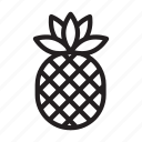 eat, food, fruit, healthy, pineapple icon