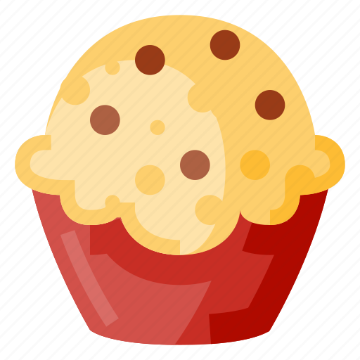 bakery, beverage, cupcake, food, pastry, snack icon