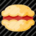 bakery, beverage, food, macaron, snack