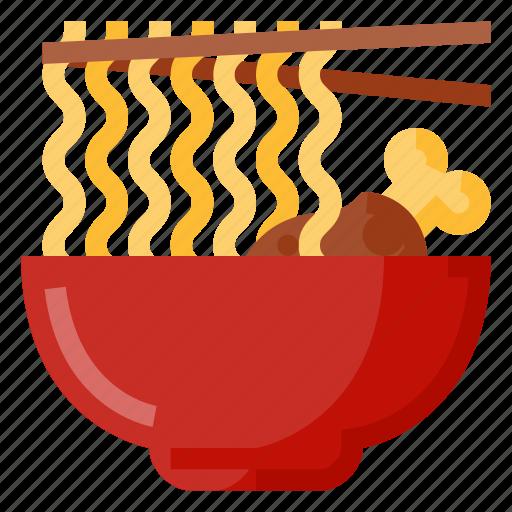 beverage, bowl, food, noodle, oriental icon
