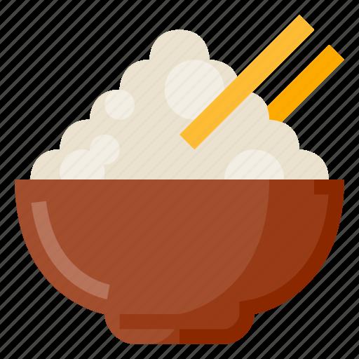 beverage, bowl, food, oriental, rice, ricebowl icon