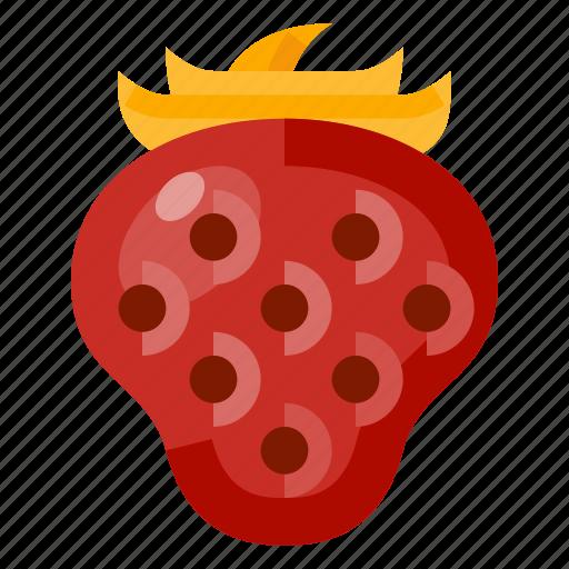 beverage, food, fruit, health, strawberry icon
