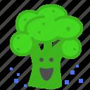 broccolli, laugh, vegetable, veggie icon