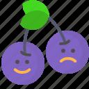 cherry, contrast, fruit, happy, sad
