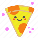 food, office, order, pizza, salami, slice