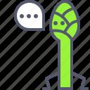 asparagus, chat, fruit, message, vegetable, veggie icon