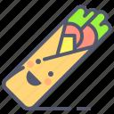 doner, gyros, kebap, meat, turkey icon
