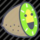 fruit, green, half, kiwi, sliced icon